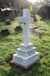 Private Signaller Hugh Roland Barnard - headstone after restoration