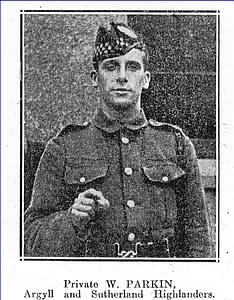 Private William Frank Parkin