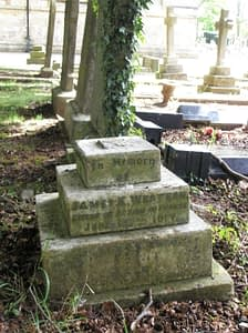 Private James Edward Western's headstone before restoration