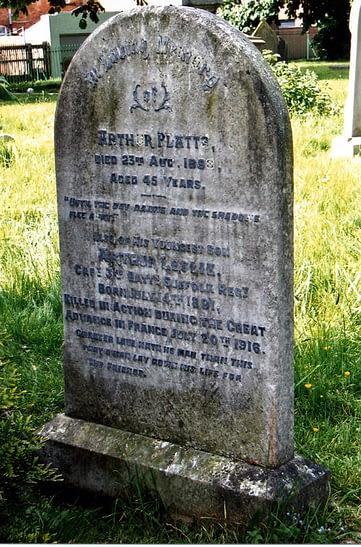 Capt. Arthur Platts headstone before restoration