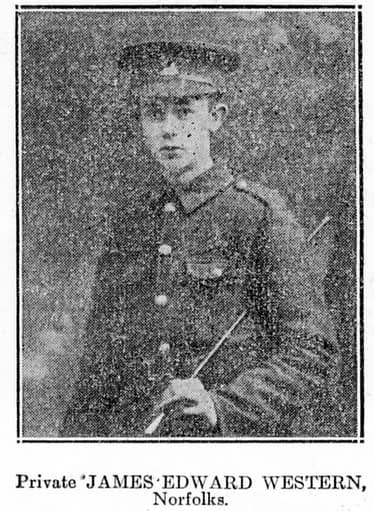 Private James Edward Western