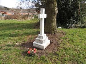 Cpl. Frank Haggett's headstone after restoration