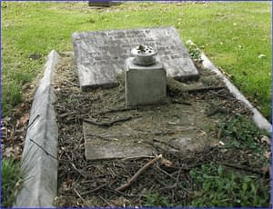 Lance Cpl. David Marshall's headstone before restoration