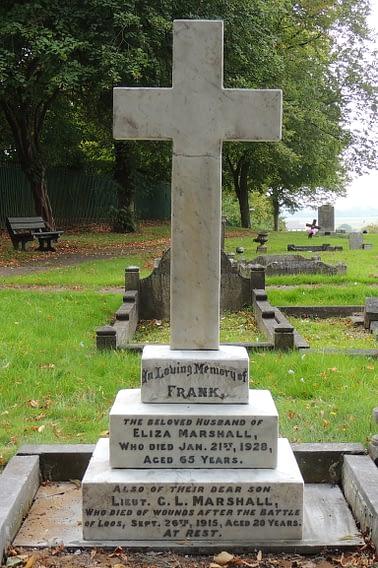 Lt. George Leonard Marshall's headstone after restoration