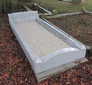 Private Robert William Belton's headstone after restoration