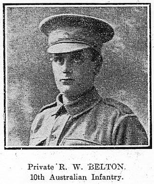 Private Robert William Belton