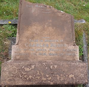 Lance Cpl. Charles Henry Mills' headstone before restoration
