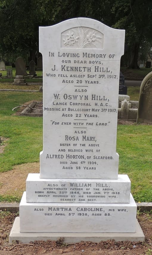 Lance Cpl. William Oswyn Hill's headstone after restoration